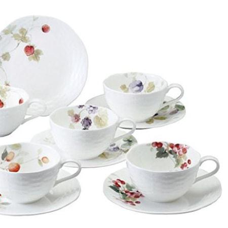 ナルミ ルーシーガーデン アソートティー・コーヒー碗皿5客セット