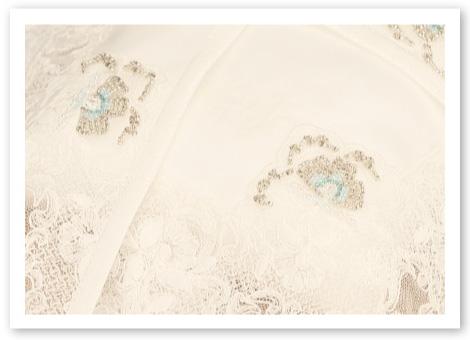 リングピロー手作りキット「オーロラ」光り輝くビーズ刺しゅうと美しく揺れるオリジナルレース