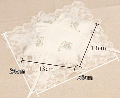 リングピロー手作りキット「オーロラ」オーロラのサイズ