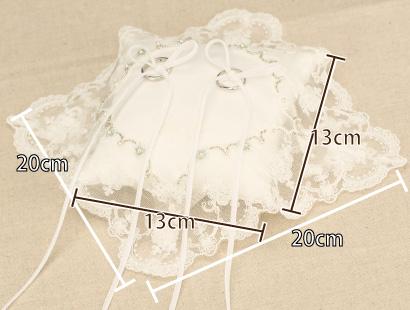 リングピロー手作りキット「フィオナ」フィオナのサイズ