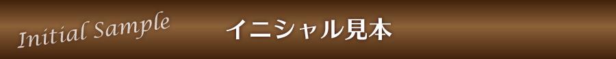 リングピロー専門店ルシエルブリレ メモリアル・イニシャルについて(サムシングブルー) イニシャル見本