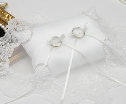 リングピロー専門店ルシエルブリレ/手作りキットの作り方 ~洋風リングピロー~ クリスタルパール