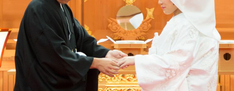 リングピロー専門店 ルシエルブリレ 「リングピローとは」 神前式での指輪交換