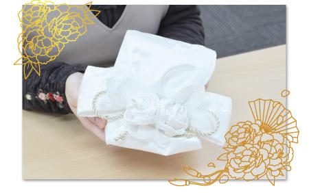 リングピロー手作りキット/華結 -はなむすび- の作り方 華結 -はなむすび-完成画像