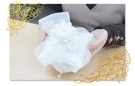 リングピロー手作りキット/ほの香 -ほのか- の作り方 ほの香 -ほのか-完成画像